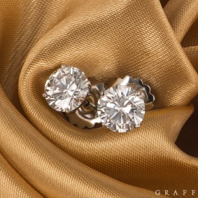 Graff Stud Earrings 4.28ct H/VS1 & VS2